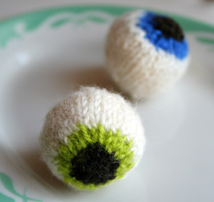 gruesome knitted eyeballs